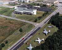 An aerial shot of CFB Shearwater